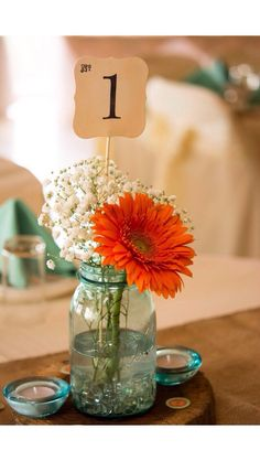 Table Numbers, Wedding, Shower, Table number on a stick by TimeLessThings on Etsy https://www.etsy.com/listing/160248621/table-numbers-wedding-shower-table