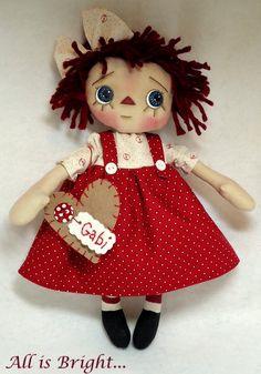 Raggedy Doll  Gabi by Allisbright on Etsy, $38.00