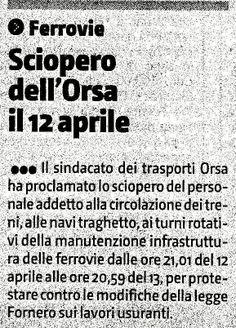 I Pendolari e le Infrastrutture in Sicilia: Sciopero dell'Orsa Trasporti dal 12 aprile per 24 ...