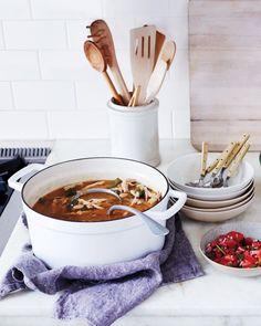 Chicken-Chile Stew and Salsa Fresca Salad