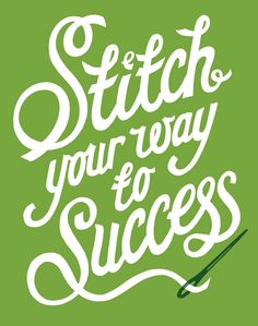 Stitch your way to success, Andy Smith