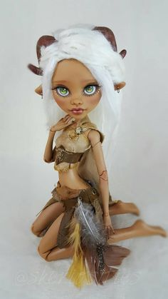 "Custom 17 Inch Clawdeen Wolf OOAK Repaint - Monster High ""Haven"" by Skeriosities"