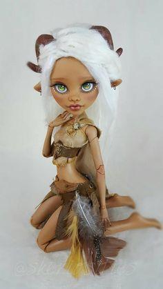 "Custom 17 Inch Clawdeen Wolf OOAK Repaint - Monster High ""Haven"" by Skeriosities"