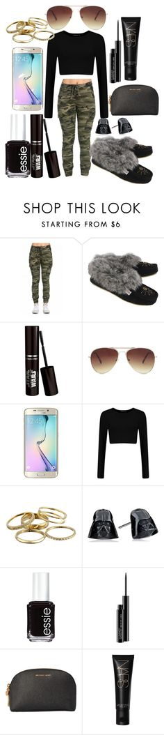 """Untitled #108"" by the-fashion-fantasy ❤ liked on Polyvore featuring Forever 21, Samsung, Kendra Scott, Essie, MAC Cosmetics and MICHAEL Michael Kors"