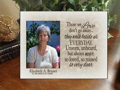 Personalized Any Message Frame Sympathy Gift Memorial Gift 8x10 Picture Frames, Personalized Picture Frames, Memorial Ornaments, Memorial Gifts, Funeral Spray Flowers, Loss Of Mother, In Memory Of Dad, Memories Quotes, Ornaments Design