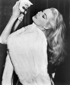Anita Ekberg, on-set of the Film, La Dolce Vita, 1960