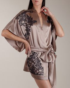 Carine Gilson: Collection Silk Short Kimono at Nancy Meyer