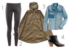 Biking in the Rain | How to wear your rain cape this fall from Iva Jean