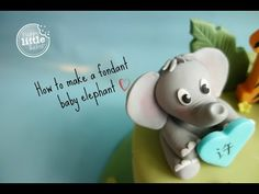 How to make a baby elephant out of fondant. Fondant used has been treated with Tylose powder so it will set harder. Elephant Cake Toppers, Elephant Cakes, Baby Elephant, Fondant Elephant Tutorial, Fondant Tutorial, Fondant Baby, Fondant Tree, Fondant Giraffe, Lion Cakes