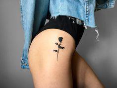 """sassylouanywayyyyy: """"My rose tattoo. I personally am in love - tattoo- sassylouanywayyyyy: """"My rose tattoo. I& personally in love, sassylouanywayyyyy: """"My rose tattoo. Personally I& in love """"sassylouanywayyyyy:"""" My rose tattoo. Mini Tattoos, Body Art Tattoos, Tattoos For Women Small, Tattoos For Guys, Small Thigh Tattoos, Thigh Tattoos For Women, Cool Tatoos For Women, Cool Girl Tattoos, Side Hip Tattoos"""