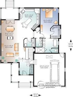 after: floor plans after the renovation of a west island home: the