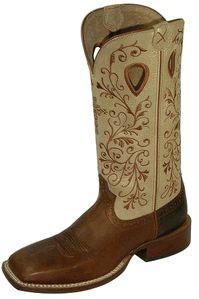 Women's Twisted X Ruff Stock Peanut Retan and Hazel Boots