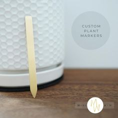 These adorable little 'popsicle stick' plant markers make it easy to identify plants in your garden. Totally customization, so you only get the herb, vegetable, and fruit labels you need! Plant Markers, Garden Markers, Herb Labels, Identify Plant, Popsicle Sticks, Garden Gifts, Farmhouse Chic, Love Design, Popsicles