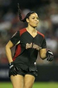 Jordin Sparks is sort of representing the DBacks in the All-Star game