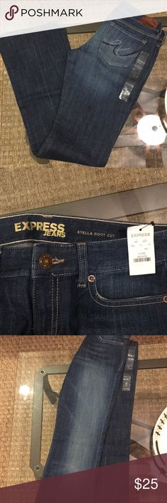 🆕 Express jeans Stella boot cut size 4 Long. New with tags, never worn. Express Jeans Boot Cut