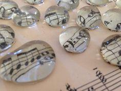 Spartiti musicali d'epoca magneti - bicchiere piccolo magnete