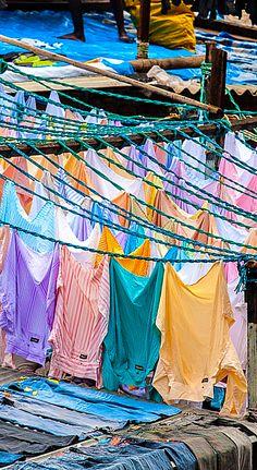 Mumbai laundry - no Dryline, no good in monsoon!