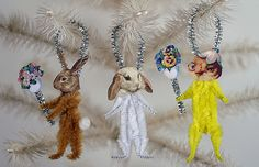 Vintage Style Chenille Easter Ornaments, via Flickr.