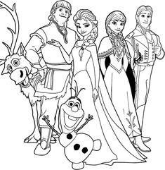 Kleurplaten Disney kleurplaten Frozen - Animaatjes.nl