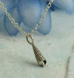 Petite Pointy Seashell Necklace  in sterling by KathrynRiechert, $28.00