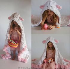 Crochet Hooded Blanket Patterns