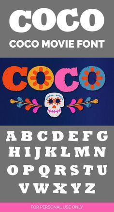 Free Coco Movie font