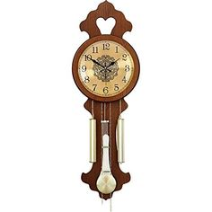 Xiejuanjuan Creative Clocks Quartz Wall Clock Silent Hang Clock Non Ticking for Living Room Hotel Decoration for Living Room,Bedroom,Office,Coffee (Color : Roman Numerals, Size : Bedroom Office, Living Room Bedroom, Wall Clock Silent, Pendulum Clock, Retro 4, Hotel Decor, Coffee Colour, Digital Wall, Roman Numerals