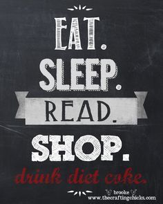 Free Printable Chalkboard Sign {for the Diet Coke lover}