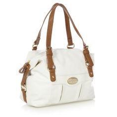 J by Jasper Conran Designer white faux leather bowler bag- at Debenhams.com 241fd9c7a7170
