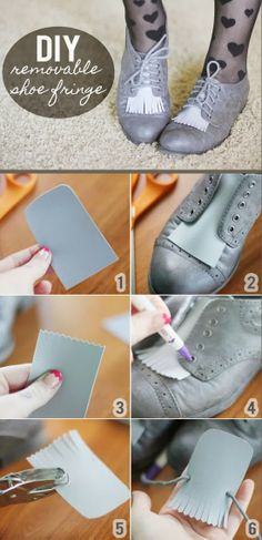 TO DIY OR NOT TO DIY: SAPATOS COM FRANJAS
