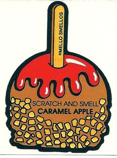 Vintage 80's Mello Smellos CARAMEL APPLE by Stuckonstickers