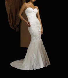 Strapless Mermaid Wedding Dress with Ruched Neckline | Merissa