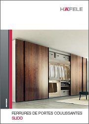 """Brochure """"Coulissants Slido 2015"""", très intuitive, pour meuble et bâtiment ! Qu'il s'agisse de ferrures de portes coulissantes pour bâtiment avec des portes intérieures et de séparation en bois ou en verre, ou bien de ferrures de portes coulissantes pour meubles à vantaux larges et penderies : vous trouverez votre bonheur ! Plus simple : les produits sont présentés en kits, qui regroupent les éléments nécessaires à l'installation et qui facilitent la commande."""