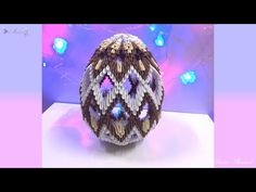 How to make origami Easter egg Origami 3d, Origami Toys, Origami Lamp, Origami And Quilling, Paper Crafts Origami, Modular Origami, Origami Patterns, Origami Templates, Origami Tutorial