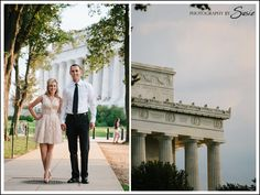 Lincoln Monument Engagement Photos