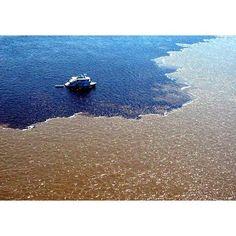 Encontro das águas do rio Negro e Amazonas