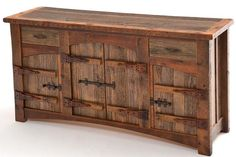 Barnwood Sideboard with 4 Doors, 2 Drawers – Heritage Collection