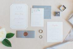 Grey & Greenery Wedding Invitation Suite