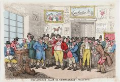 The Jockey Club at Newmarket. A Georgian print.