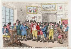 The Jockey Club at Newmarket. A Georgian print.