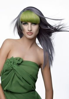 Future Girl, Futuristic Style, Hairstyle, Playful Pastels, green hair, futuristic fashion, grey hair, futuristic look, girl in green, green by FuturisticNews.com