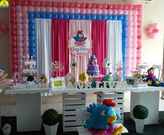 buffet infantil bauru dinos park decoração galinha pintadinha provençal  menina 15