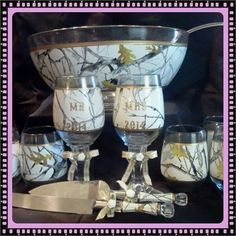 Wedding Punch Bowl and Serving Set. White camo (scheduled via http://www.tailwindapp.com?utm_source=pinterest&utm_medium=twpin&utm_content=post1498559&utm_campaign=scheduler_attribution)