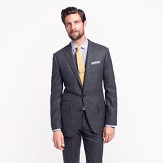 Ludlow suit jacket with double vent in houndstooth Italian wool