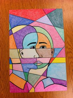 Grade Picasso-Inspired Cubist Abstract Self-Portraits Picasso Self Portrait, Art Picasso, Self Portrait Art, Picasso Paintings, Portraits For Kids, Cubist Portraits, Picasso Portraits, Abstract Portrait, Cubist Art