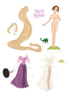 Recortable Rapunzel by DeuxStyle on deviantART * 1500 free paper dolls at Arielle Gabriels International Paper Doll Society also her memoir childhood Joys and miracles The Goddess of Mercy also known as Kuan Yin & The Dept of Miracles *