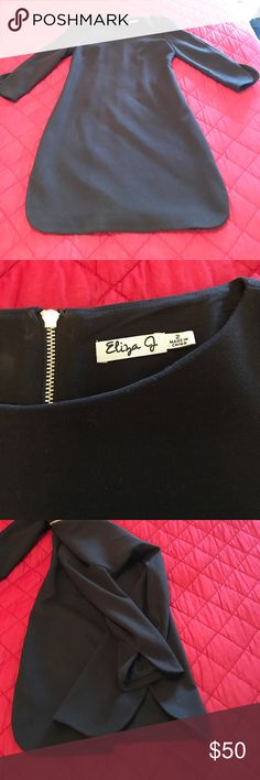 Eliza J black dress Very comfy, lined black dress. Great for work, or dinner etc. in perfect condition. Eliza J Dresses Long Sleeve