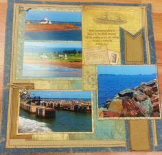 Sea Cruise - water photo scrapbooking layout #canvascorp