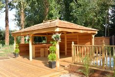 Hot Tub Garden, Garden Gazebo, Outdoor Living Rooms, Hip Roof, Pergola, Outdoor Structures, Traditional, Shelters, House