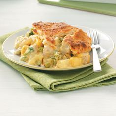 Chicken Potpie with Cheddar Biscuit Topping, good base recipe for tweaking...